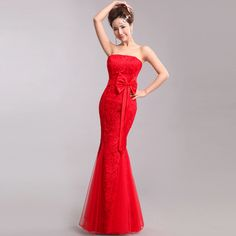 Chinese Wedding Dress | dress - Shop red cheongsam qipao dresses, Chinese bridal wedding dress ...