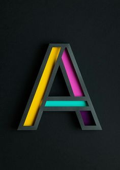 3D typography  Aesthetic Investigation / Type in Physical Space (sculptural)