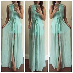 Sheer Mint Dress