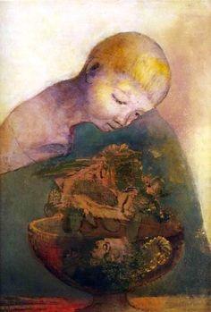 Odilon Redon「La coupe de la connaissance」 ,