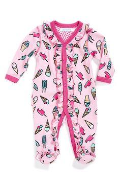 jaxxwear+Ruffle+Pima+Cotton+One-Piece+(Baby+Girls)+available+at+#Nordstrom