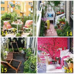 I have always had a love affair with balconies in vintage brownstones. So here are some Inspiring Balcony Decorating Ideas - Upcycled Treasures