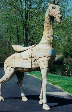Looff Giraffe In Old Park Paint | Flickr - Tommy