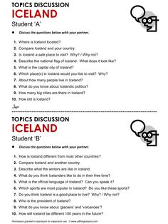 Iceland, English, Learning English, Vocabulary, ESL, English Phrases, http://www.allthingstopics.com/iceland.html .