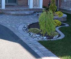 want to do something like this beside the driveway where the grass won't grow anyway.