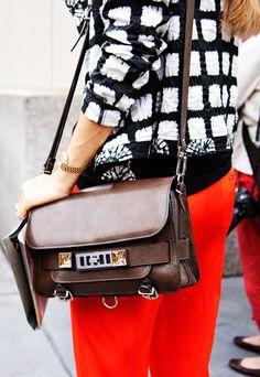 Joanna Hillman's Proenza Schouler bag