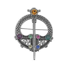 Celtic Brooch Large Rhodium Plated Irish Made Pin - C9114U157DR - Brooches & Pins  #jewellrix #Brooches #Pins #jewelry #fashionstyle