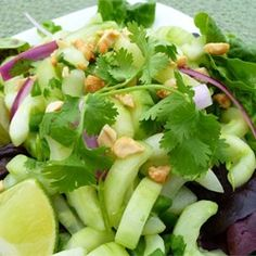 "Thai Cucumber Salad | ""I absolutely loved this salad. I was a bit skeptical at first, but am glad I made it."""