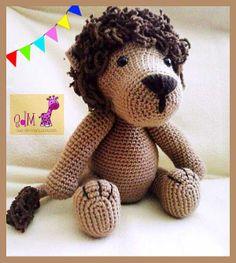 Leoncillo adorable hecho de lana.  Lo podéis encontrar en nuestro blog o en nuestro facebook. Los ojos son de seguridad para que no haya problema en los niños.