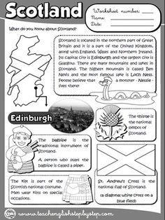 Scotland - Worksheet (B&W version)