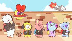 bt21 fanart | ♡ Bts Chibi, Jimin, Bts Bangtan Boy, Jungkook Predebut, Yuka, Line Friends, Bts Drawings, Bts Fans, I Love Bts