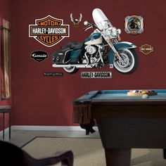 Harley Davidson Classic Transportation Wall Decals Part 37