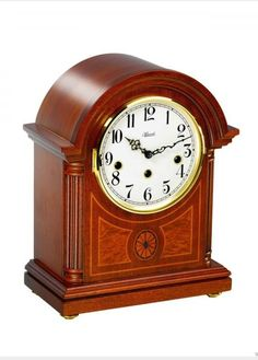 Hermle clocks made of mahogany and brass