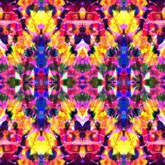 Tropical Tie Dye Art Print by Amy Sia   Society6