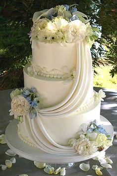 Buttercream Cakes -- Fleur de Lisa Wedding Cakes