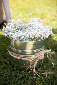 BABY´S BREATH aisle decoration - Caistorville, Ontario Wedding from Carolyn Bentum Photography. Would love to find some weathered tubs. Wedding Reception, Rustic Wedding, Our Wedding, Dream Wedding, Wedding Stuff, Sydney Wedding, Wedding Themes, Wedding Designs, Wedding Decorations