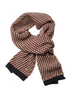 Retro wollen sjaal rood