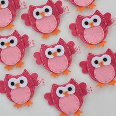 Pink Felt Owl Hair Clip Cute Everyday Owl by MasterpiecesOfFunArt, $3.50