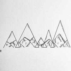 🔺🔺🔺 #mountain #triangle #mountains #landscape #abstract #minimal #illustrator #illustration #sketch #drawing #pen #ink #pendrawing #linework #lines #geometry #geometric #design #tattoodesign #blackandwhite #blackworkers #blackwork #sketchbook #evablavk #instafollow
