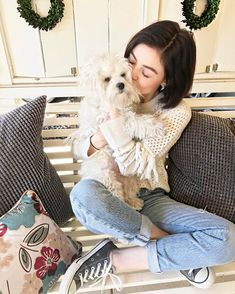 Lucy Hale is so cute with her puppy