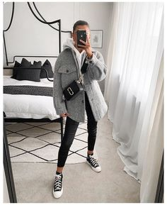 Casual Winter Outfits, Winter Fashion Outfits, Look Fashion, Daily Fashion, Trendy Outfits, Autumn Winter Fashion, Fall Outfits, Casual College Outfits, Mode Ootd