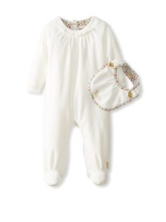 30bbc10f1c00c Juicy Couture Baby Footie with Bib (Angel)