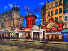"""Moulin Rouge"" ~ by Liudmila Kondokova ~ Painting You With Words"