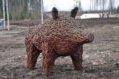 villisika www.kivapiha.com Lion Sculpture, Statue, Art, Art Background, Kunst, Performing Arts, Sculptures, Sculpture