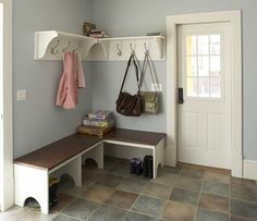 Farmhouse Kitchen Remodel - Mudroom - traditional - hall - minneapolis - by TreHus Architects+Interior Designers+Builders