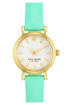 Ohhh, this Kate Spade mint watch is so pretty.