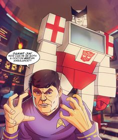 Mash up comic book characters and teams with Star Trek