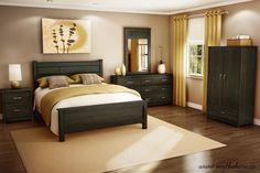 chambre à coucher -couleur ébène