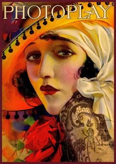 vintage retro art deco photoplay cover mexican by FrenchFrouFrou