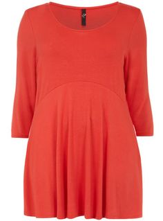 Evans Red Curved Seam Skater Top - Tops & Tunics - New In - Clothing  - New In