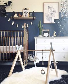"""Fox & Wilder on Instagram: """"I absolutely love this shot of Beautiful baby Xander's bedroom featuring our grey tipped wooden playgym"""