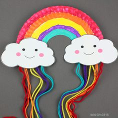 Paper Plate Rainbow Craft - Easy Spring Craft For Kids
