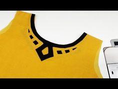 Best 12 Boat neck design kurti kameez cutting and stitching easy method DIY Tuto… Churidhar Neck Designs, Neck Designs For Suits, Blouse Back Neck Designs, Sleeve Designs, Blouse Designs, Salwar Kameez Neck Designs, Churidar Designs, Kurti Sleeves Design, Kurta Neck Design