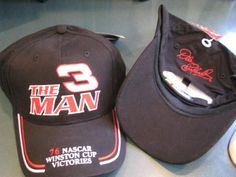 "Dale Earnhardt Sr #3 ""The Man 76 NASCAR Winston Cup Victories Embroidery"" With Red White Accents Hat Cap One Size Fits Most OSFM Winners Circle by Winner's Circle. $22.99. Dale Earnhardt Sr #3 ""The Man 76 NASCAR Winston Cup Victories Embroidery"" With Red White Accents Hat Cap One Size Fits Most OSFM Winners Circle"