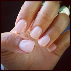 See this and similar nail treatments - So happy! Got exactly what I wanted...Natural nails, acrylic with gel manicure. Color is OPI Bubble Bath   See more about...