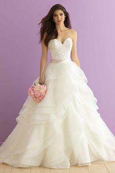 Wedding gown by Allure Romance.Check out more gorgeous dresses in our Allure Romance gown gallery ►