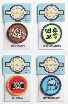 Image of Alternative Scouting Merit Badge, Set 3 - FULL SET OF 4