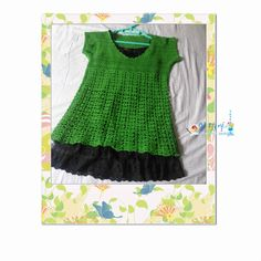 Green diagrammed tunic
