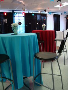 50's themed party www.tablescapesbydesign.com https://www.facebook.com/pages/Tablescapes-By-Design/129811416695