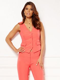 $69 Shop Eva Mendes Collection - Mariel Vest . Find your perfect size online at the best price at New York & Company.