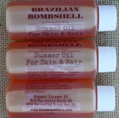 Brazilian Bombshell  Summer Oil for Skin and by RainforestChica