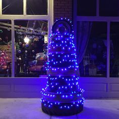 Our blue Tire Tree!  'Christmas in Paris!' #the_old_store