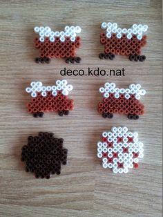 DECO.KDO.NAT: Perles hama: gâteaux en 3D