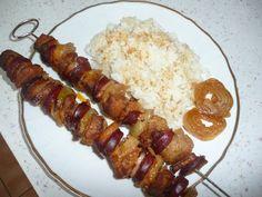 Ražniči - tak ako chutí u nás (fotorecept) - recept Ham, Sausage, Tacos, Chicken, Hams, Sausages, Cubs, Chinese Sausage