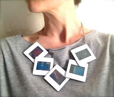 Statement Necklace Frame Blue van NewCools op Etsy