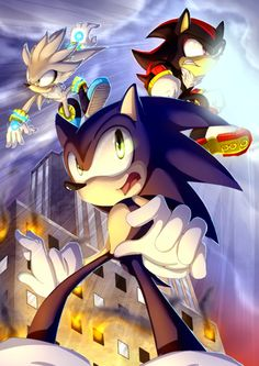 Silver, Sonic, and Shadow